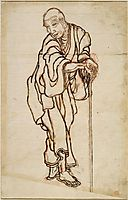 Self-portrait in the age of an old man, hokusai