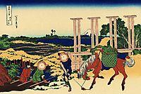 Senju in the Musachi provimce, hokusai