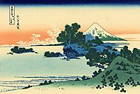 Shichiri beach in Sagami province, hokusai