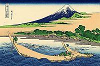 Shore of Tago Bay, Ejiri at Tokaido, 1832, hokusai