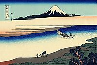 Tama river in the Musashi province, hokusai