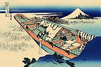 Ushibori in the Hitachi province, hokusai