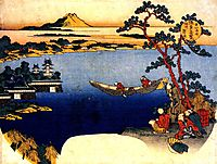View of lake Suwa, hokusai