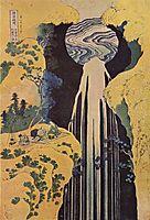 The waterfallofAmidabehindtheKisoRoad, c.1827, hokusai