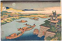 Yodo gawa from Setsugekka, Snow, Moon and Flowers, hokusai