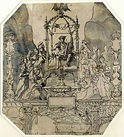 Apollo and the Muses on Parnassus, 1533, holbein