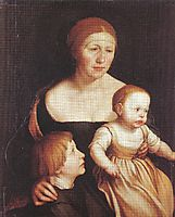 Charity (The Family of the Artist), c.1528, holbein