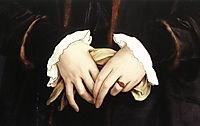 Christina of Denmark, Ducchess of Milan, detail 1, 1538, holbein