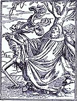 Death and the Abbott, c.1538, holbein