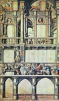Design for the facade decoration of the dance house in Basel, 1520, holbein