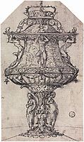 Design for a Table Fountain with the Badge of Anne Boleyn, holbein
