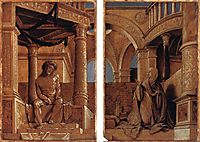 Diptych with Christ and the Mater Dolorosa, c.1520, holbein