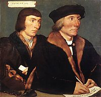 Double Portrait of Sir Thomas Godsalve and His Son John, 1528, holbein