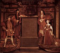 Henry VII, Elisabeth of York, Henry VIII and Jane Seymour, holbein