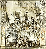 The Humiliation of the Emperor Valerian by the Persian King Sapor, 1521, holbein