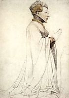 Jeanne de Boulogne, Duchess of Berry, 1524, holbein