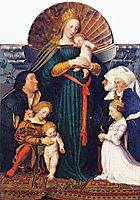 Madonna of the Burgermeister Meyer, holbein