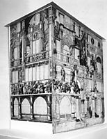 Model of the dance house in Basel, holbein