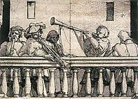 Musicians on a Balcony, c.1527, holbein