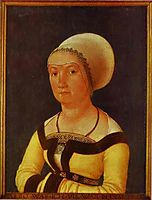 Portrait of 34 year old Woman, 1516, holbein