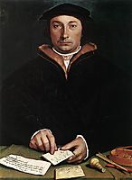 Portrait of Dirk Tybis, 1533, holbein
