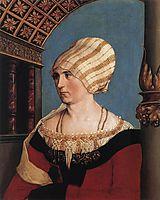 Portrait of Dorothea Meyer, nee Kannengiesser, 1516, holbein