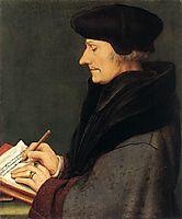 Portrait of Erasmus of Rotterdam Writing, 1523, holbein