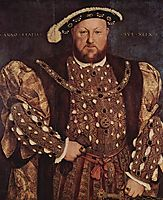 Portrait of Henry VIII , 1540, holbein