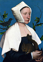 Portrait of a Lady with a Squirrel and a Starling, 1527-1528, holbein
