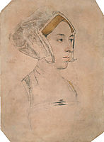 Portrait of a Lady, thought to be Anne Boleyn, c.1534, holbein