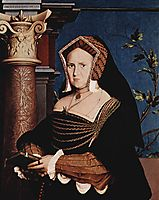 Portrait of Mary Wotton, Lady Guildenford, 1527, holbein