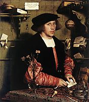 Portrait of the Merchant Georg Gisze, 1532, holbein