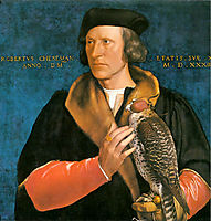 Portrait of Robert Cheseman, 1533, holbein