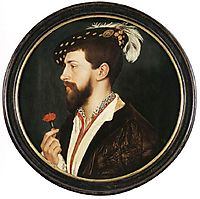 Portrait of Simon George, 1536-1537, holbein