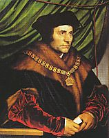 Portrait of Sir Thomas More , 1527, holbein