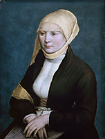 Portrait of a woman from southern Germany ., c.1523, holbein