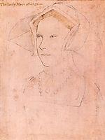 Queen Mary I Tudor, 1536, holbein