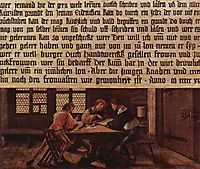 A School Teacher Explaining the Meaning of a Letter to Illiterate Workers, 1516, holbein