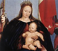 The Solothurn Madonna, detail 1, 1522, holbein