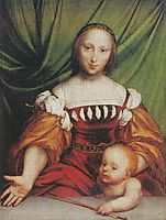 Venus and Amor, holbein