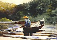 Boy Fishing, 1892, homer