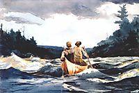 Canoe in the rapids, 1897, homer