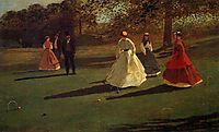 Croquet Players, 1865, homer