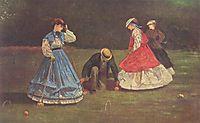 Croquet Scene, 1864, homer