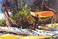 End of the Portage, 1897, homer