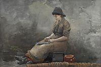 Fishergirl Baiting Lines, homer