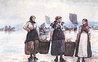 Fisherwomen, Cullercoats, 1881, homer