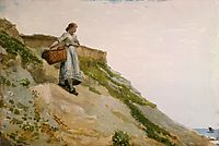 Girl Carrying a Basket, 1882, homer