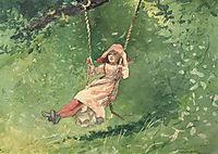 Girl on a Swing, 1897, homer