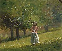 Girl with Hay Rake, 1878, homer